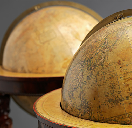 Terrestrial Globe and Celestial Globe by Newton & Son
